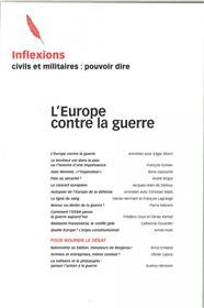 Inflexions N°33 L´Europe Contre La Guerre (2016)