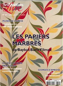 ART ET METIERS DU LIVRE N°321 PAPIERS marbres  BARIS YILMAZ JUILLET/AOUT 2017