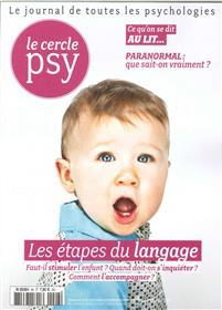 Le Cercle Psy N° 26 Les Etapes Du Langage Septembre 2017
