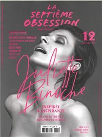 La Septieme Obsession N°12 Juliette Binoche  Septembre/Octobre 2017