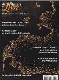 Art Et Metiers Du Livre N°322 Les Bibliophiles De Provence Septembre 2017