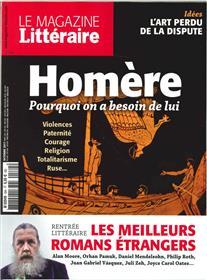 Le Magazine Litteraire N°584 Homere Pourquoi On A Besoin De Lui  Octobre 2017