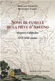 Noms De Famille De La Pieve D´Aregno.Xvie-Xxie Siècles