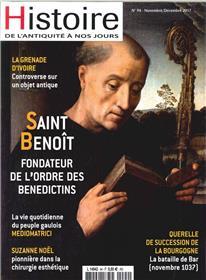 Histoire De L´Antiquite A Nos Jours N°94 Saint Benoit  Novembre 2017