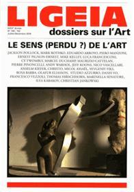 Ligeia N°149-152 Le Sens (Perdu) De L´Art Juillet/Decembre 2016