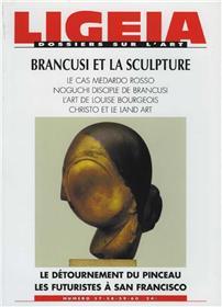 Ligeia N°57 Brancusi Et La Sculpture