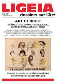 Ligeia N°141-144 Arts Et Bruits