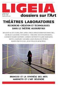 Ligeia N°137-140 Theatres Laboratoires Janvier/Juin 2015