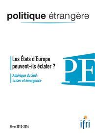 POLITIQUE ETR.2013/4 Et.Europe - PE134