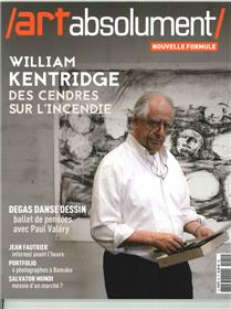 Art Absolument N°81 William Kendridge  Janvier/Fevrier 2018