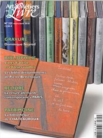 Art et métiers du livre N°325 Gravure  Mars/avril 2018