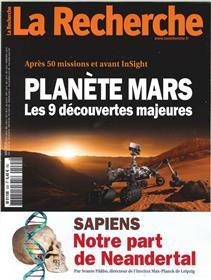 La Recherche N°535 Planete Mars  mai 2018