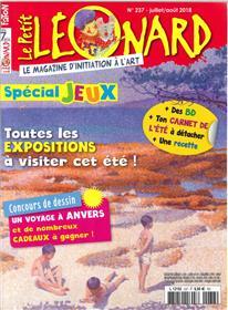 Le Petit Léonard N°237 Spécial expo et jeux - juillet/août 2018