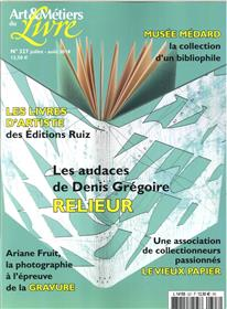 Art et métiers du livre N°327 Denis Grégoire - juillet/août 2018