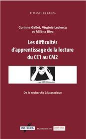Les Difficultés D´Apprentissage De La Lecture Du Ce2 Au Cm1