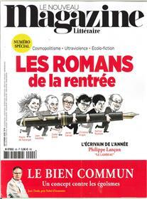 Le Nouveau Magazine Littéraire N°9 Les Romans de la rentrée  - septembre 2018