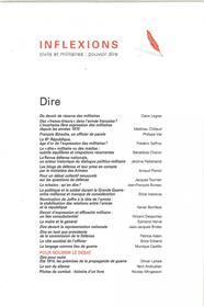 Inflexions n°39 - Dire - septembre  2018
