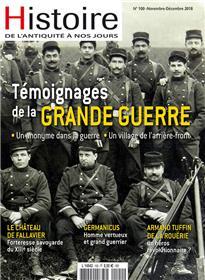 Histoire de l´Antiquité à nos jours N°100 Témoignage première guerre mondiale - nov. 2018