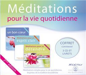 Coffret méditations pour la vie quotidienne - Coffret 3 CD