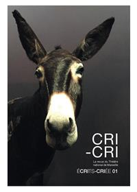 CRI-CRI écrit-Criée numéro 1
