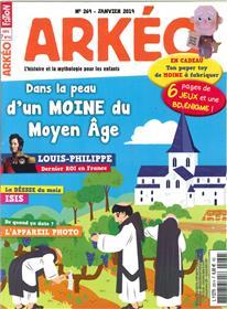 Arkéo Junior N°269 Dans la peau d´un moine au Moyen-âge - janvier 2019