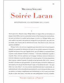 Soirée Lacan.
