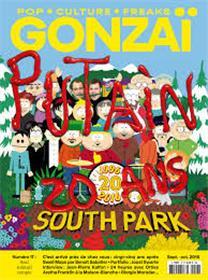 Gonzaï N°17 Putain 20 ans South Park - septembre/octobre 2016
