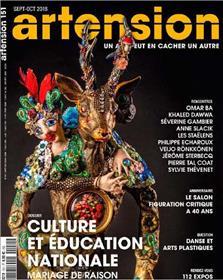 Artension N°151 - Culture et Education Nationale - septembre/octobre 2018