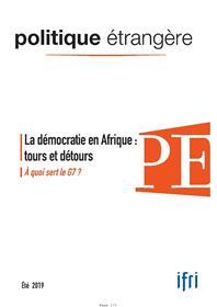 Politique étrangère n° 2/2019 La démocratie -  juin 2019