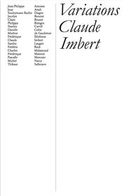 Variations Claude Imbert