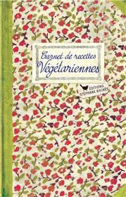 Carnet de recettes Végétariennes