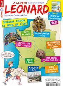 Le Petit Léonard N°248 Expositions d´été et jeux - juillet/août 2019
