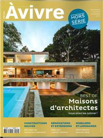 Architectures à Vivre HS N°44 Best of Maisons d´Architectes  - septembre/octobre/novembre 2019