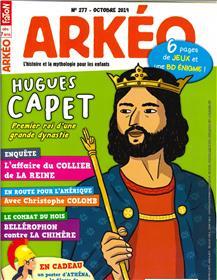 Arkéo Junior N°277 Hugues Capet - octobre 2019