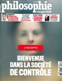 Philosophie Magazine n°133 Bienvenue dans la societe de contrôle  - octobre 2019