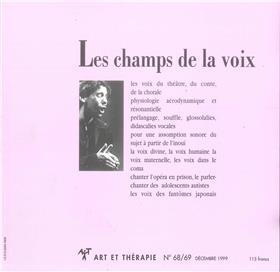 Art & Thérapie - n°68/69 Les champs de la voix - Décembre 1999