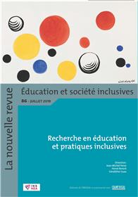 Revue NR-ESI n° 86. Recherche en éducation et pratiques inclusives