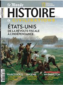 Histoire & Civilisations N°58 Etats unis   - février 2020