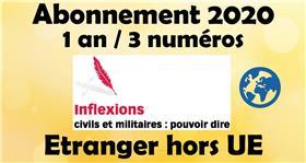 Inflexions Abonnement 2020 Hors Union Europenne  (3 Numeros Par An)