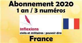 Inflexions abonnement 2020 France (3 numéros par an)