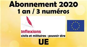 Inflexions Abonnement 2020 Union Européenne (3 numéros par an)