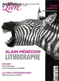 Art et métiers du livre N°336 Gravure - Alain Ménégon - janvier 2020