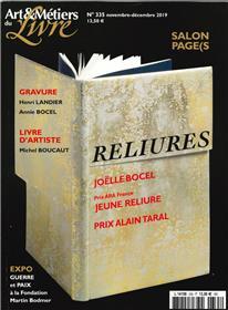 Art et métiers du livre N°335  Joëlle Bocel - novembre 2019