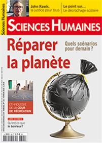 Sciences Humaines N°322 Réparer la planète  - janvier 2020