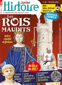 Histoire Junior N°93 Les Rois maudits - février 2020