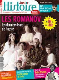Histoire junior n° 96 - La famile Romanov - mai 2020