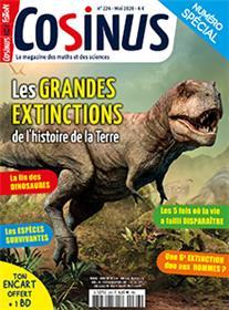 Cosinus n° 226 Les grandes extinctions - mai 2020