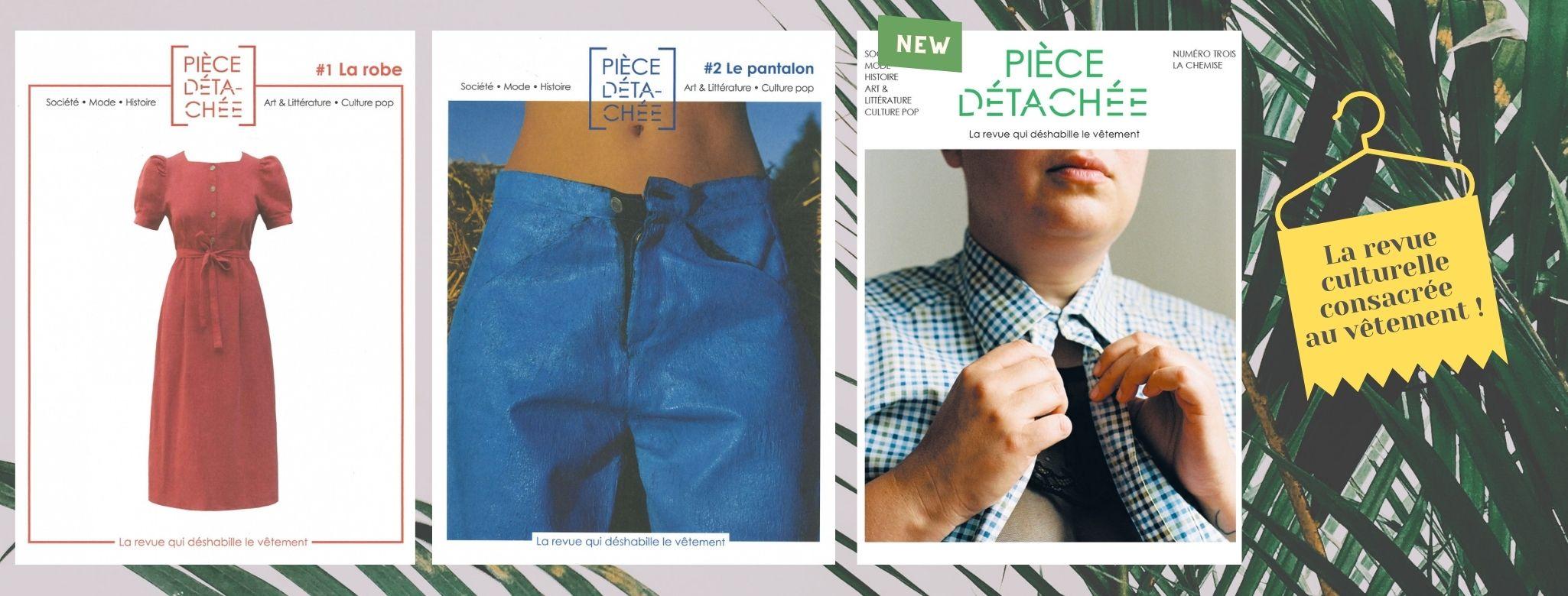 La revue met à l'honneur un vêtement par numéro à travers des articles relevant de champs divers, des nouvelles, des entretiens et des reportages.