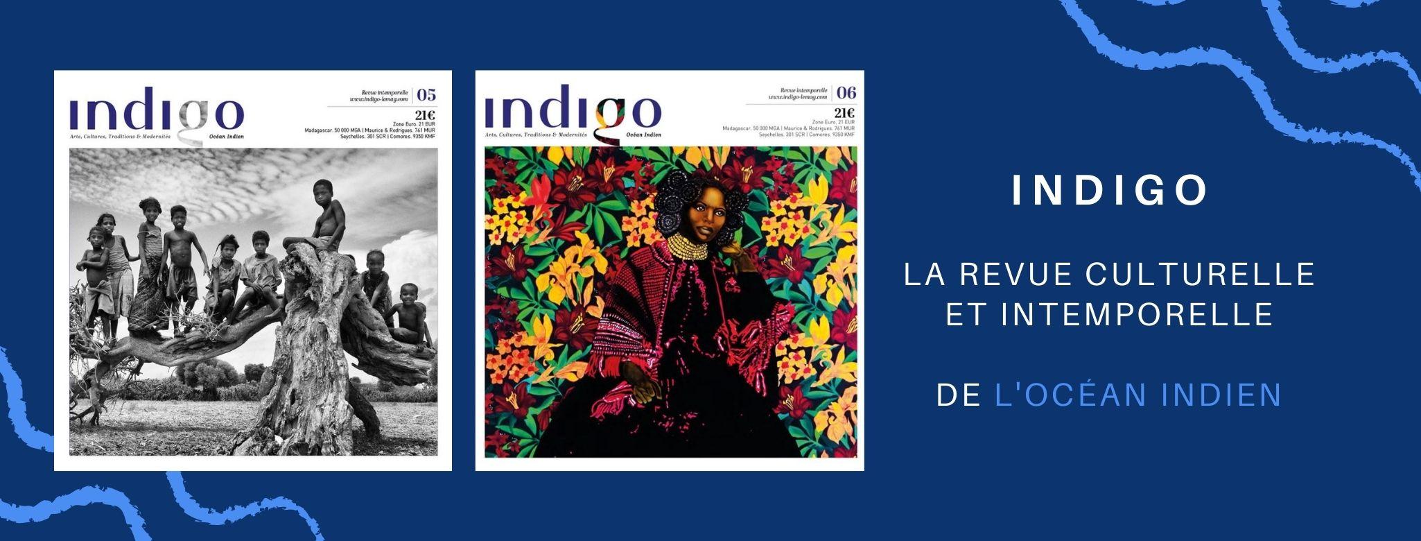 Indigo est né grâce à de nombreux collaborateurs ; écrivains, photographes, illustrateurs... Ils ont tous 2 points communs : leurs attaches aux îles de l'océan indien et leur passion pour l'art et la culture.